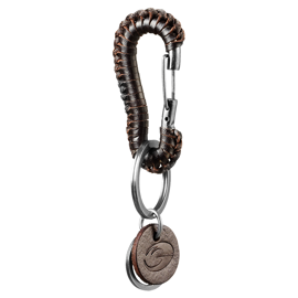GASP Braided Keyclip Dark Brown