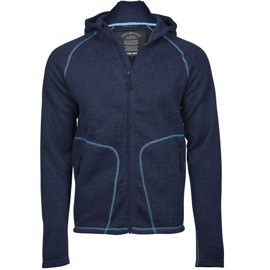 Outdoor Hooded Fleece Navy/Turquoise