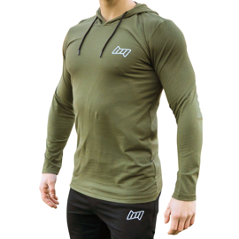 BM hooded Long Sleeve New Army
