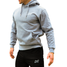 BM Hooded Sweat Oxford Grey