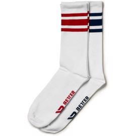 Better Bodies Brooklyn Socks 2-Pack Navy/Red