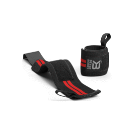 Better Bodies Elastic Wrist Wraps Black/Red