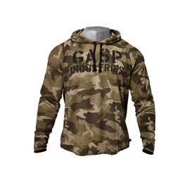 Gasp Long Sleeve Thermal Hoodie green camo print