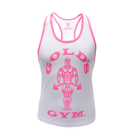Gold's Gym Ladies Loose Fit Muscle Tank White