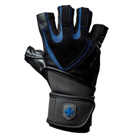 Harbinger Training Grip Wristwrap - Black/Blue