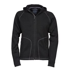 Outdoor Hooded Fleece Black/Grey