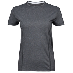 Womens Performance Tee Dark Grey Melange