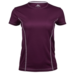 Womens Performance Tee Purple