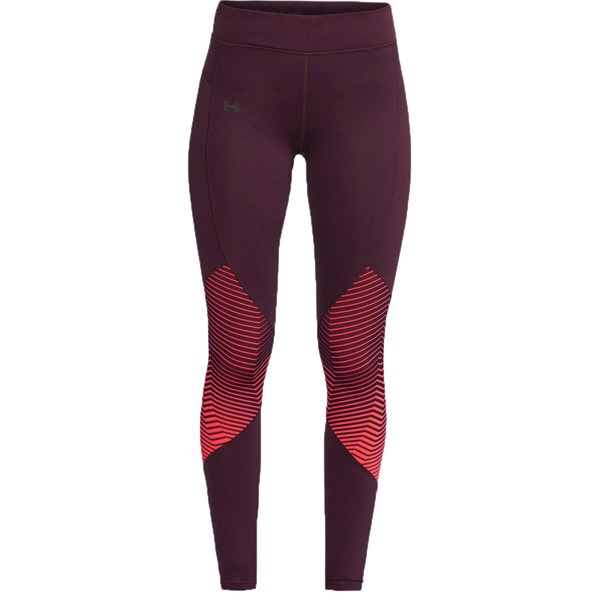 Under Armour Womans Reactor Leggings - Sort/Rød