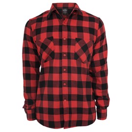 Urban Classics Checked Flannel Shirt Black/Red